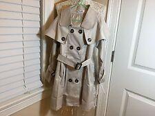 Girls trench coat tie-waist cotton size 7-9/150