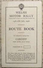 WELSH RALLY MOTORE Cardiff percorso iniziale Book 14 - 18 luglio 1936