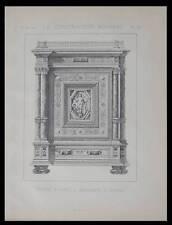 MEUBLE D'APPUI - 1890 - PLANCHE ARCHITECTURE - VIGNAT