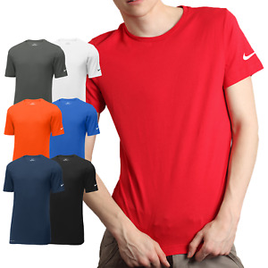Nike Mens Dri-FIT Cotton Poly Tee Shirt Gym Workout Short Sleeve Athletic - New