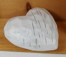 Rustic Ivory Wood Like Heart Pier 1