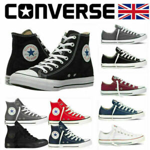 Mens Womens Converse Trainers High/Low Tops Chuck Taylor All Star Canvas Shoes