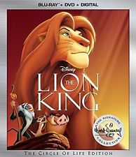 The Lion King (Blu-ray/DVD,2017 2-Disc set, Includes Digital copy)NEW FREE SHIP!