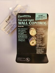 Vintage Solid State Casablanca Fan And Light Wall Control Model W8 Open Box