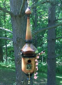 Handcrafted 2 piece White Ash Wooden Hanging Birdhouse #20