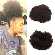 Synthetic Curly Wave Hair Clip in Ponytail Short Afro Kinky Wrap Drawstring Puff