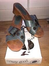 Dr. Scholls the Original Collection Wood Soles exercise Sandals Navy Blue Size 6