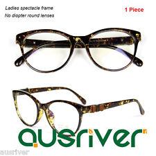 Premium Eyeglasses Frame Women's Round Full Rim Spectacle Anti-Radiation Lenses