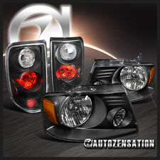 04-08 Ford F150 XL XLT Black Headlights+Styleside Tail Lamps