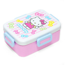Hello Kitty Stripe Bento Lunch Box Picnic Container Portable 650ml (22oz)