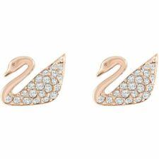Orecchini Swarovski Mini Swan Cigno placcato oro rosa 5144289