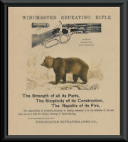 Winchester 1873 Repeating Rifle Advertisement Reprint On 100 Year Old Paper 161