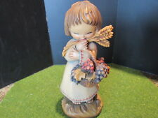 "Anri Ferrandiz Harvest Girl. Grapes, Wheat, Figurine Woodcarving 3"""