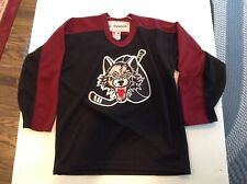 Chicago Wolves Ahl Sewn Patched Reebok Black Hockey Jersey Sz Youth L/Xl - Cool