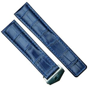 22/20 MM breitling BENTLEY CHRONOGRAPH 42 Véritable Cuir Bleu Montre Bracelet
