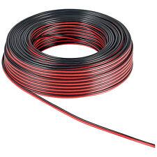 50 m Lautsprecherkabel 99,9% Kupfer Zwillingslitze Rot/Schw 2x 0,75 mm² OFC 6058