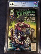 SUPERMAN #60 1st Ben Lockwood AGENT LIBERTY Supergirl CW TV 1991 CGC NM+ 9.6