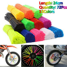 72Pcs Motocicleta Suciedad Bicicleta habló pieles cubre Envolturas rueda llanta protectora para nosotros