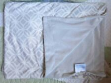 S.L. Home Fashions Inc Plush Gray White Diamond Spiderweb Pattern Baby Blanket