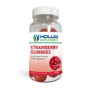 Strawberry Vitamin Gummies Strawberry Multi Vitamin 30 Gummies One Per Day