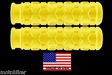 "USA 7/8"" HEX BAR GRIPS FITS BICYCLE BMX GT DK HUFFY KENT MONGOOSE SCHWINN YELLOW"