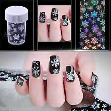 Nail Art Vinyl Manicure Stencil Guide Snowflake Style Tip Manicure Sticker Craft