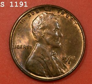 """1931-S Lincoln Wheat Cent """"CH BU RB"""" *Free S/H After 1st Item*"""