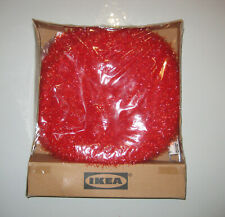 IKEA Strala Red Sparkle Fuzzy Ball Hanging Lamp Pendant Light 25W NEW