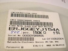 150k, 0805, 5%. 0,125w, résistance, panasonic, ERJ 6 geyj 154a, 500 unité = 1,98 €