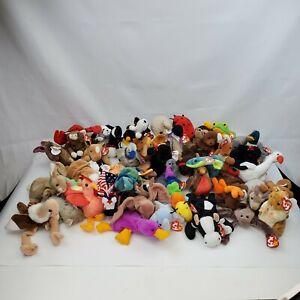 VTG Lot of 48 TY ORIGINAL BEANIE BABIES 1993 - 2000  Rare Errors Mixed W/Tags