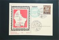 Luxembourg 1941 3+2 pf Occupation First Day Post Card - Z3263