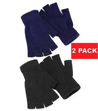 2 PK Unisex Winter Warm Keep Magic Fingerless Half Finger Knitted Gloves Mittens
