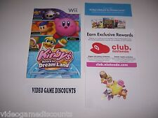 Kirby's Return to Dreamland for Wii Instructions Manual Booklet - *NO GAME*