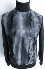 $6775 BRIONI Karakul Persian Lamb Astrakhan Fur Turtleneck Sweater Size 52 Euro
