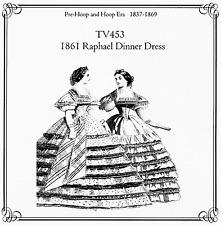 Ladies' Civil War 1861 Raphael Dinner Dress Truly Victorian Sewing Pattern TV453