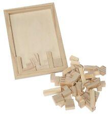 Legespiel Geduldspiel Puzzle aus Holz Reisespiel fördert Ausdauer Konzentration