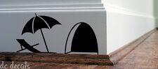 Mouse Hole Wall Art Sticker Sun Bath Vinyl Decal Mice Home Skirting Board Funny