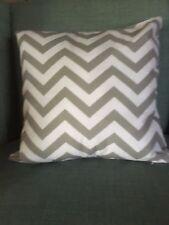 Vintage  Grey chevron cotton lightweight cushion pillow cover