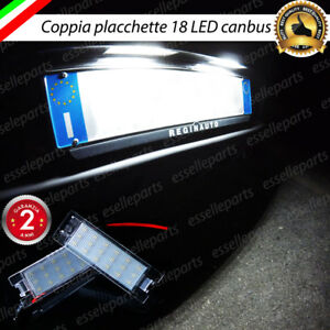 COPPIA LUCI TARGA PLAFONIERE COMPLETE FIAT 500X 18 LED CANBUS 6000K NO ERRORE