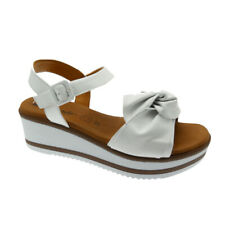 SUSIMODA 2910/7 white sandal for woman plantar gel feather Susimoda