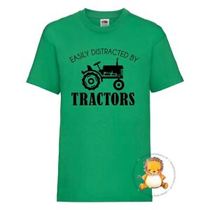 Kids Tractor T-shirt - gift, farming, present, trend, personalised, digger