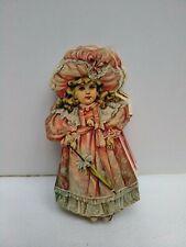 Vintage Diecut Folding Paper Garland  * Victorian paper doll