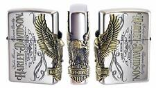 Zippo Harley Davidson Japan Limited HDP-75 Antique Nickel Brass Eagle Metal NEW