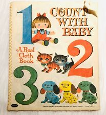 Count With Baby By Whitman A Real Cloth Book 1960 Mid Century Retro Book