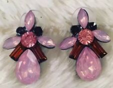 Pink / Rust Gem Stud Statement Earrings  • Wedding Gift present BIRTHDAY EVENING