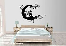 Fairy On The Moon Inspired Design Wall Vinyl Decal Sticker in 4 size's