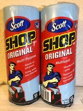 Scott Original Blue Shop Towel Roll  2 Pack 55 Towel