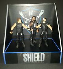 WWE Custom made THE SHIELD display for wrestling figures. no figs inc