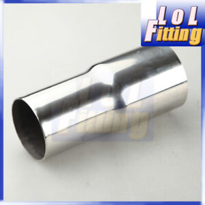 """2"""" OD To 2.5"""" inch OD Stainless Steel Reducer Connector Pipe Turbo Exhaust"""
