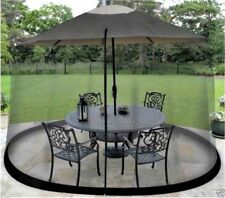 Black Shade Netting MOSQUITO Screen For Outdoor Patio Table Umbrella Net Cover